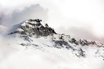 Inspiring Snow-covered Mountain Peak
