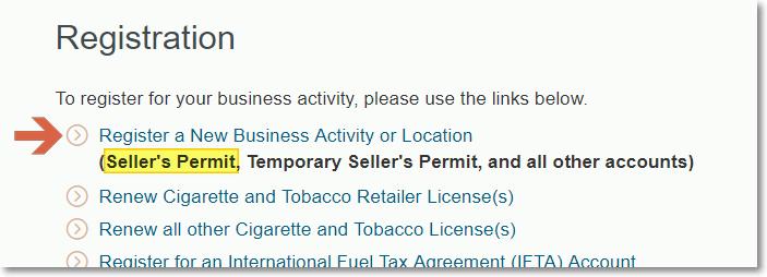 CA Seller's Permit